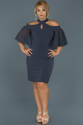 Short Indigo Oversized Evening Dress ABK059