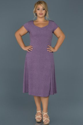 Short Lavander Oversized Evening Dress ABK222