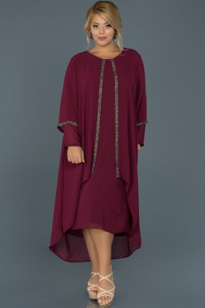 Plum Plus Size Evening Dress ABK220