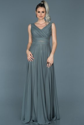 Long Anthracite Evening Dress ABU004