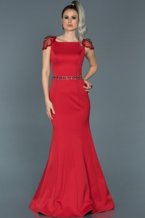 Long Red Mermaid Evening Dress ABU509