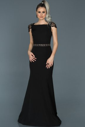 Long Black Mermaid Evening Dress ABU509
