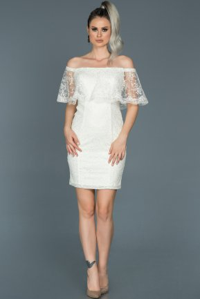 Short White Engagement Dress ABK277