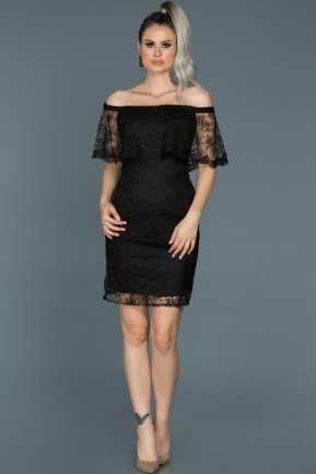 Short Black Engagement Dress ABK277