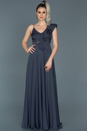 Long Indigo Engagement Dress ABU476