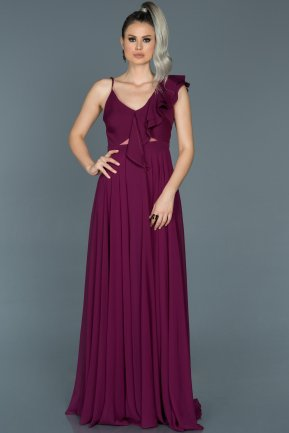 Longue Plum Engagement Dress ABU476