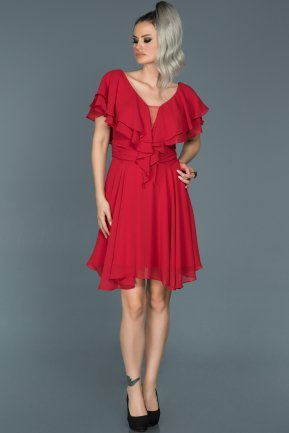 Short Red Invitation Dress ABK273