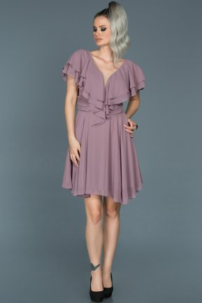 Short Lavender Invitation Dress ABK273