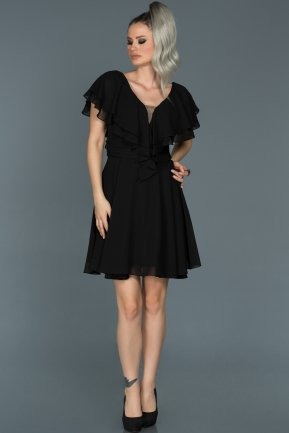 Short Black Invitation Dress ABK273