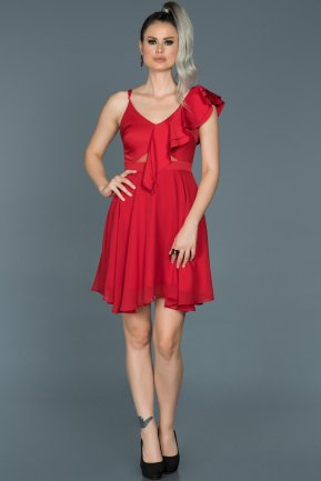 Short Red Invitation Dress ABK280