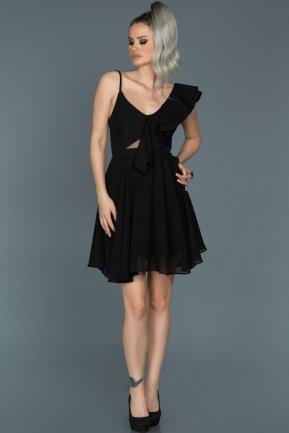 Short Black Invitation Dress ABK280
