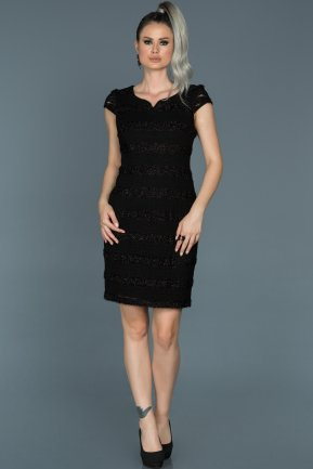 Short Black Invitation Dress ABK276