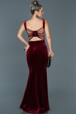 Long Burgundy Mermaid Evening Dress ABU503