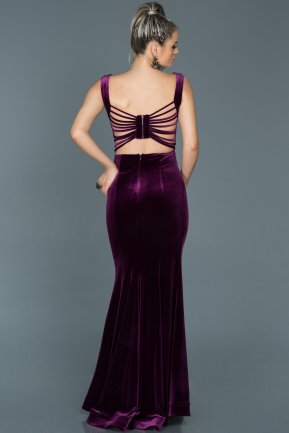 Long Purple Mermaid Evening Dress ABU503