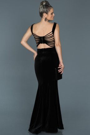 Long Black Mermaid Evening Dress ABU503