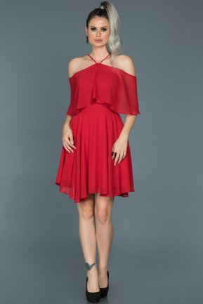 Short Red Invitation Dress ABK281