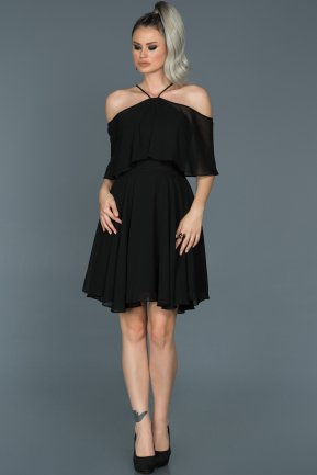 Short Black Invitation Dress ABK281