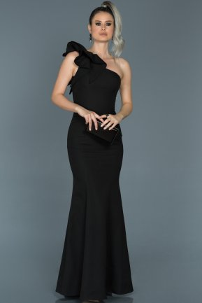 Long Black Mermaid Prom Dress ABU414