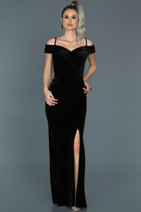 Long Black Prom Gown ABU501
