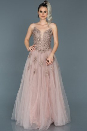 Long Lavander Engagement Dress ABU053