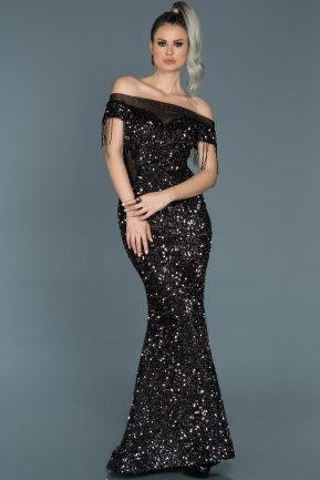 Long Grey Mermaid Evening Dress ABU497