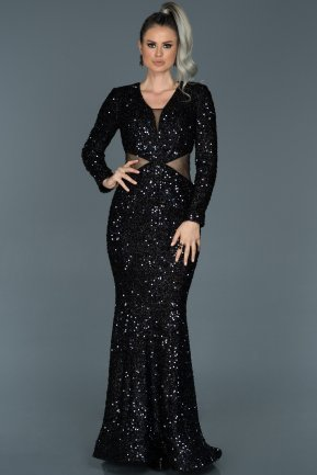 Long Navy Blue Mermaid Evening Dress ABU498