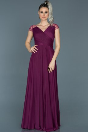 Long Plum Evening Dress ABU025