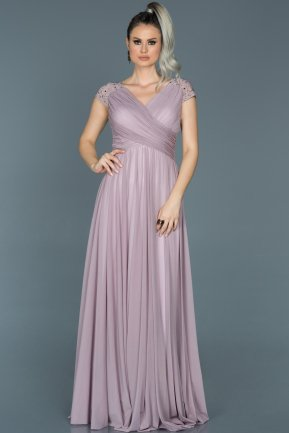 Long Lavender Evening Dress ABU025
