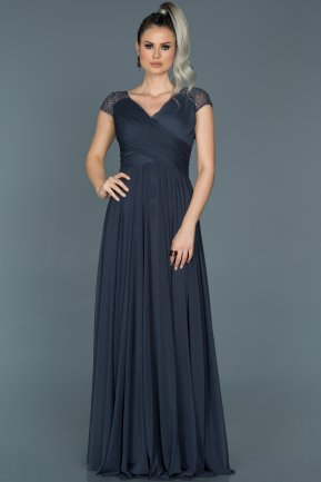 Long Indigo Evening Dress ABU025