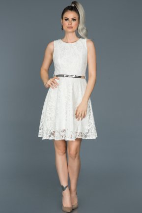 Short White Evening Dress ABK028
