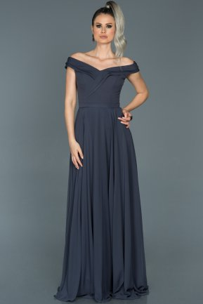 Long İndigo Engagement Dress ABU012