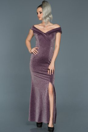 Long Plum Prom Gown ABU437