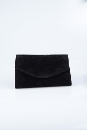Black Suede Evening Bag V497