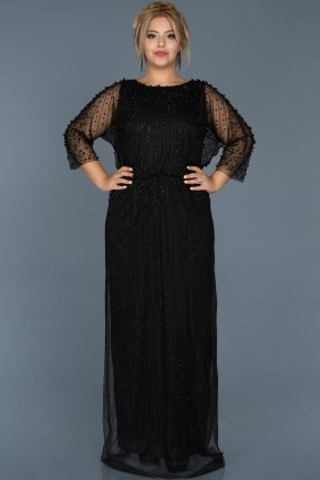 Long Balck Evening Dress ABU256