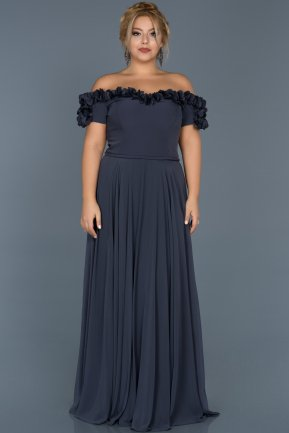 Long Indigo Plus Size Dress ABU074