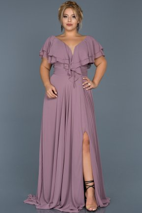 Long lavender Plus Size Evening Dress ABU032
