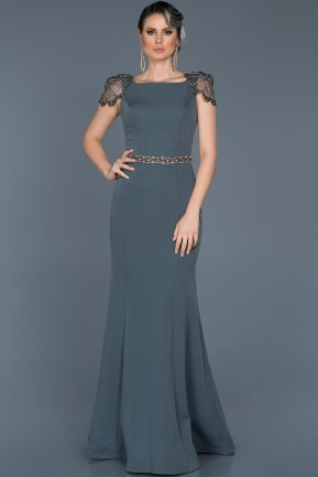 Long Anthracite Mermaid Evening Dress ABU509