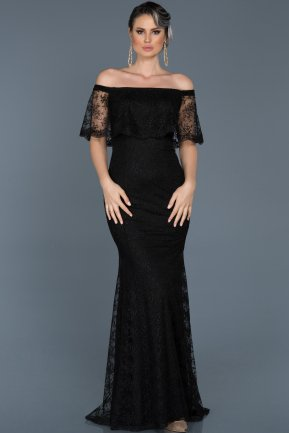 Long Black Mermaid Prom Dress ABU510
