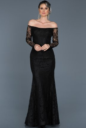 Long Black Evening Dress ABU011