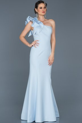 Long Blue Mermaid Prom Dress ABU414