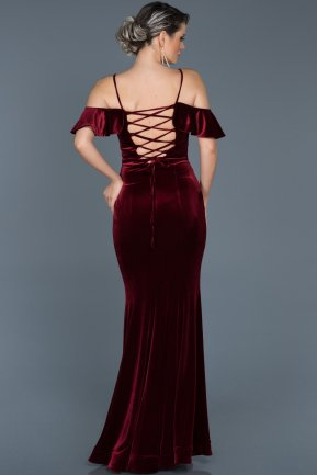 Long Burgundy Mermaid Evening Dress ABU523