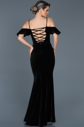 Long Black Mermaid Evening Dress ABU523