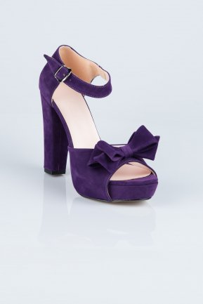 Purple Suede Evening Shoes MJ6601