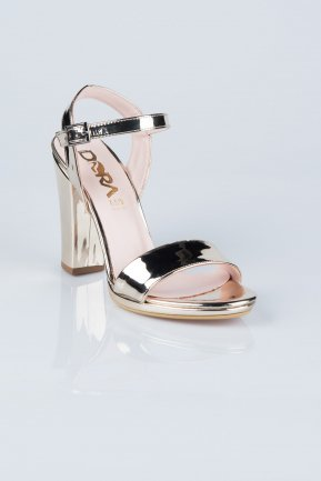 Gold Evening Shoes AB1011