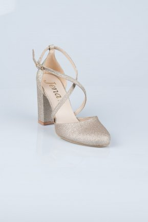 Gold Evening Shoes MJ1019