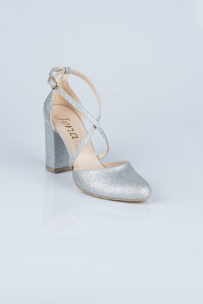 Silver Evening Shoes MJ1019
