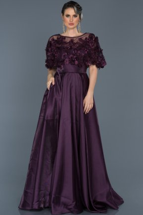 Long Purple Evening Dress ABU115