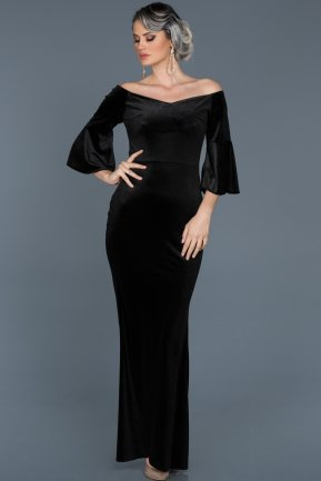 Long Black Prom Gown ABU519
