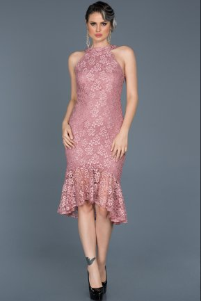 Short Rose Colored Invitation Dress ABK290