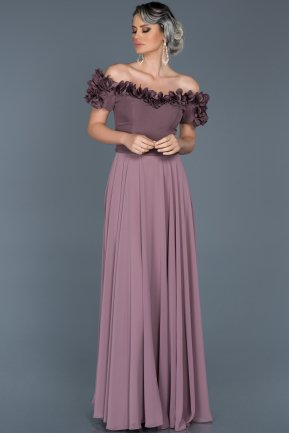 Long Lavender Evening Dress ABU074